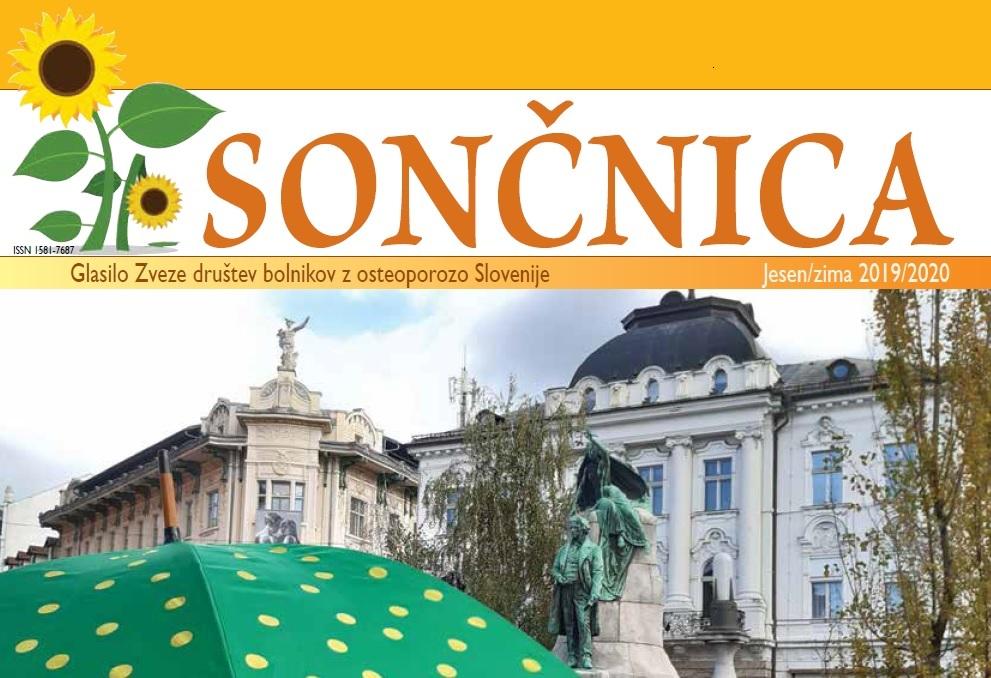 naslovnica revije soncnica november 2019