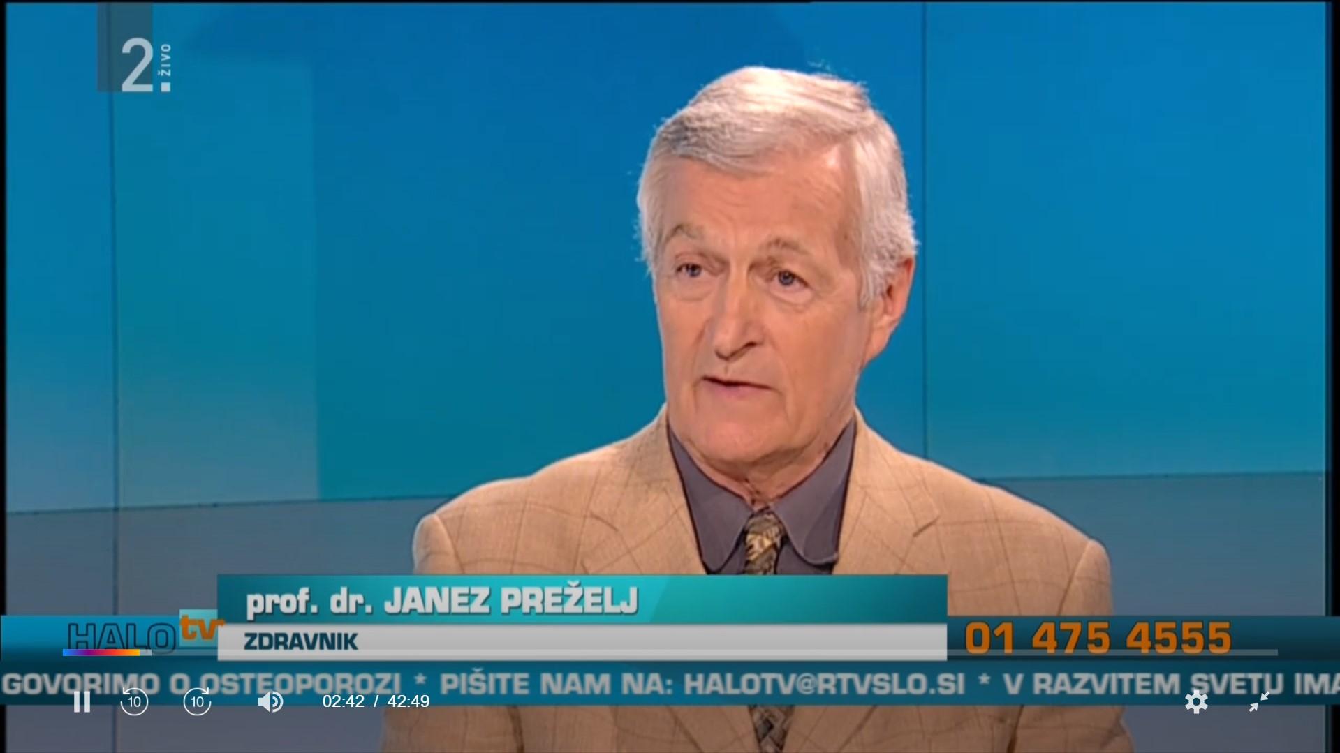 Janez Prezelj o osteoporozi
