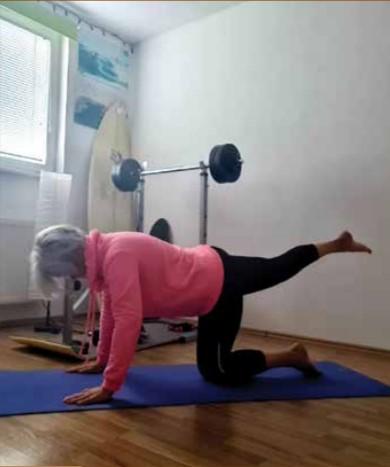 V Velenju so s preselitvijo telovadbe na splet sledili zavedanju, da samo redna in dovolj intenzivna vadba koristi zdravju. Foto Janja Rednjak